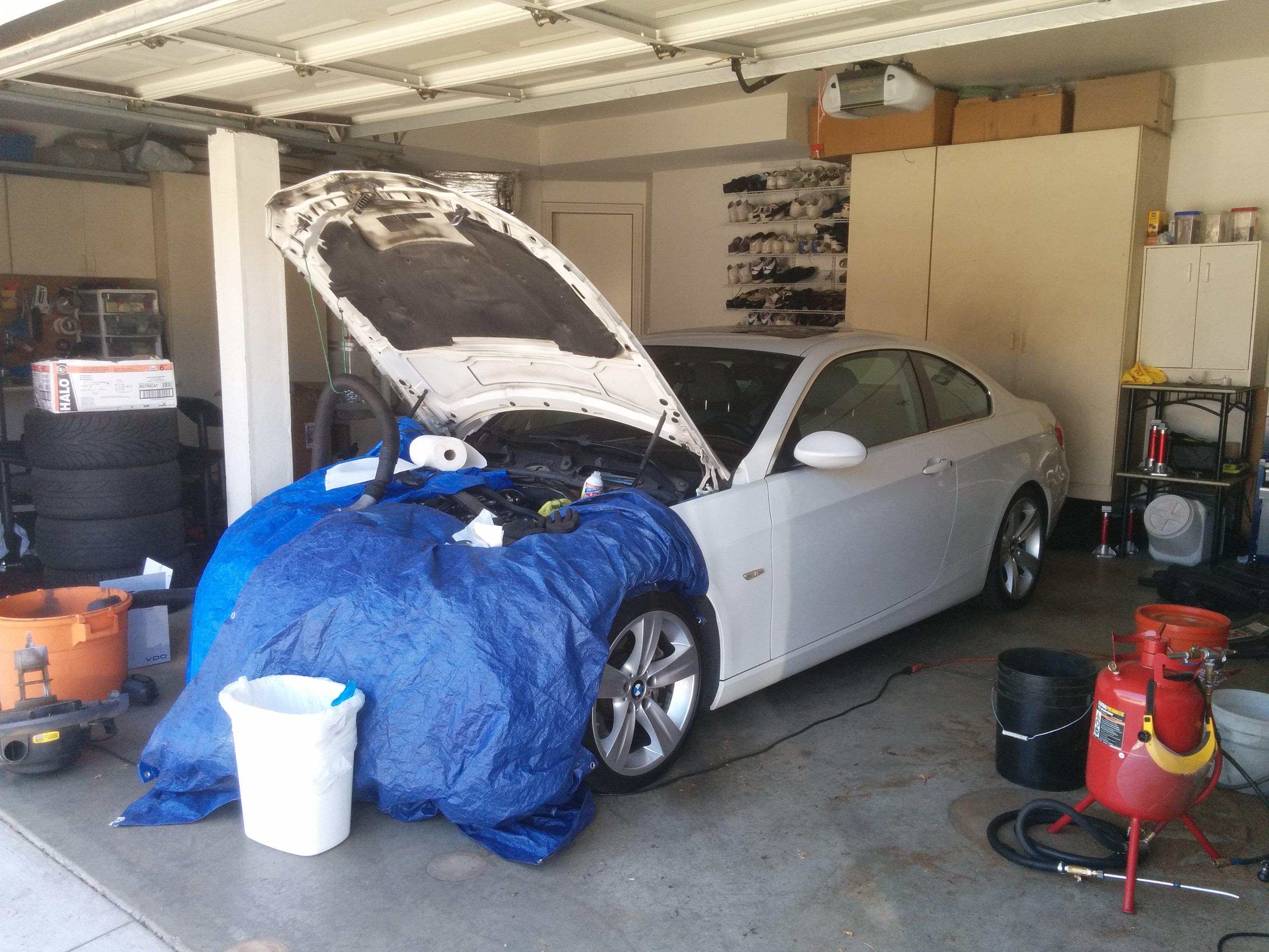 Walnut Shell Blasting on Danyel's 2007 BMW 335i E92 Coupe